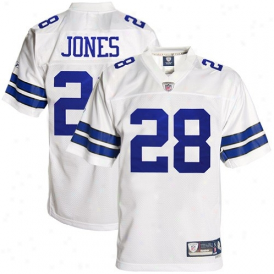 Dallas Cowboys Jerseys : Reebok Dallas Cowboys #28 Felix Jones White Premier Tackle Twill Football Jerseys