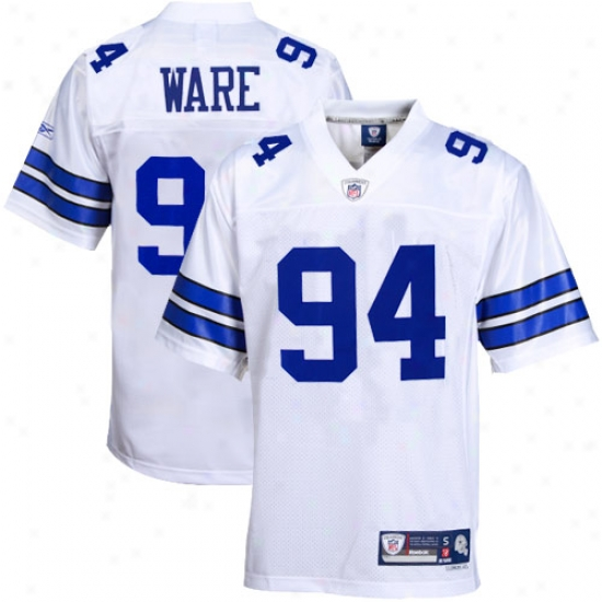 Dallas Cowboys Jerseys : Reebok Demarcus Ware Dallas Coowboys Premier Tackle Twill Jerseys - White