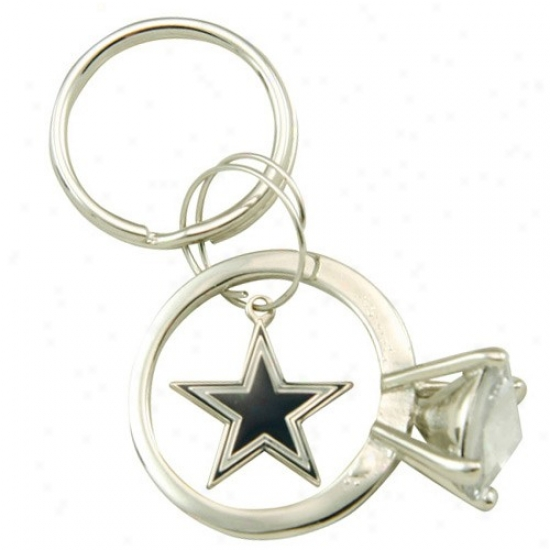 Dallas Cowboys Junbo Bling Ring Keyvhain