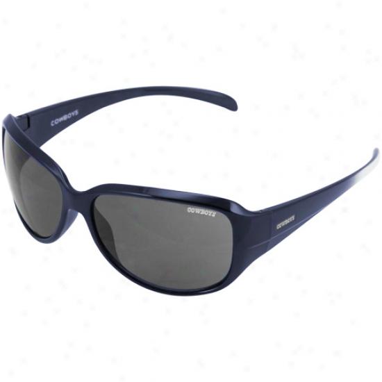 Dallas Cowboys Ladies Navy Blue-silver Fade Velocity Sunglasses