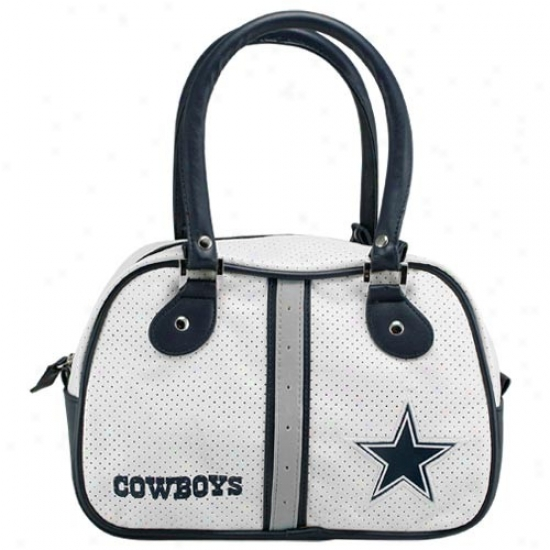 Dallas Coeboys Ladies White Bowler Purse