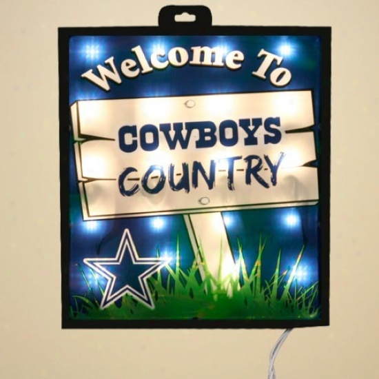 Dallas Cowboys Kindle Up Wall/eindow Sign
