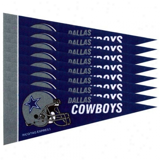 Dallas Cowboys Ships of war Blue 8-pack Mini Pennant Set