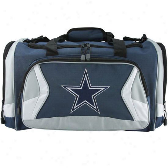 Dallas Cowboys Navy Blue Fly-by Duffel Bag
