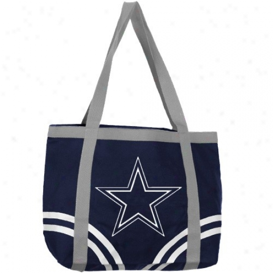 Dallas Cowboys Navy Blue Extensive Canvas Tote Bag