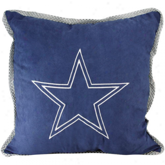 Dallas Cowboys Navy Blue Mvp Pillow