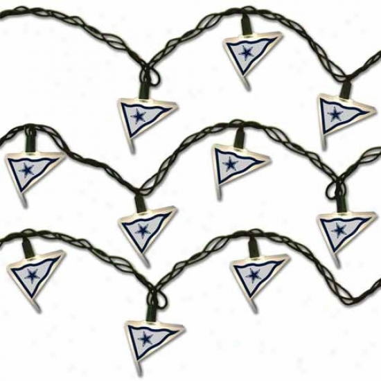 Dallas Cowboys Pennant Party Lights
