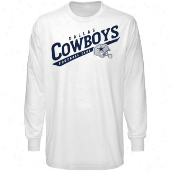 Dallas Cowboys Shirt : Dallas Cowoys White The Call Is Tails Long Sleeve Shirt
