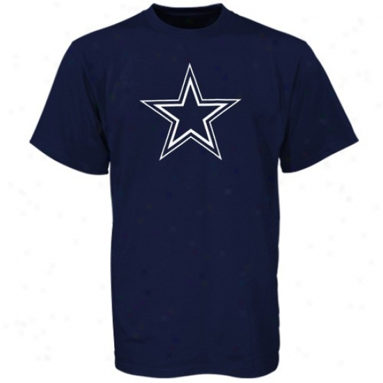 Dallas Cowboys Shirt : Reebok Dallas Cowboys Youth Navy Blue Logo Premier Shirt
