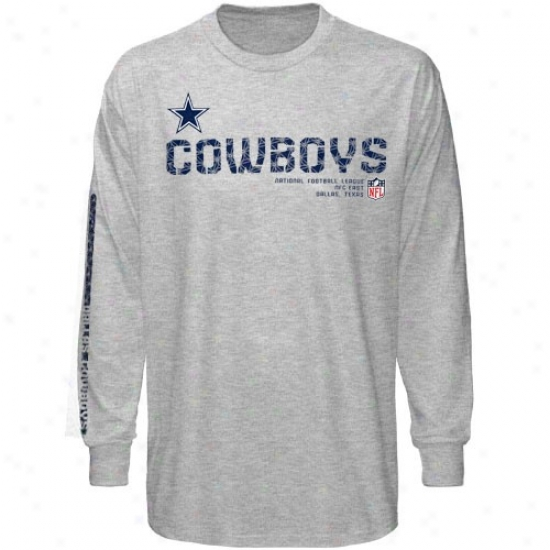 Dallas Cowboys Shirts : Dallas Cowboys Ash Sideline Tacon Long Sleeve Shirts
