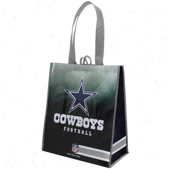 Dallas Cowboys Silver-navy Blue Fade Reusable Tote Bag