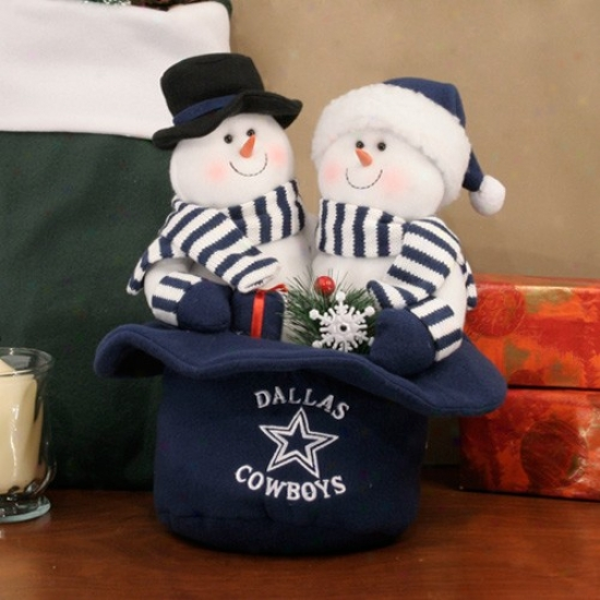 Dallas Cowboys Snowmen Top Hat