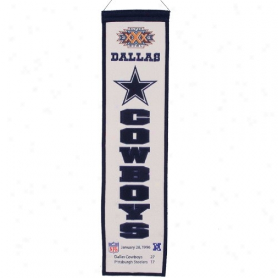 Dallas Cowboys Super Goblet Xxx Champions Gray Heritage Bannner