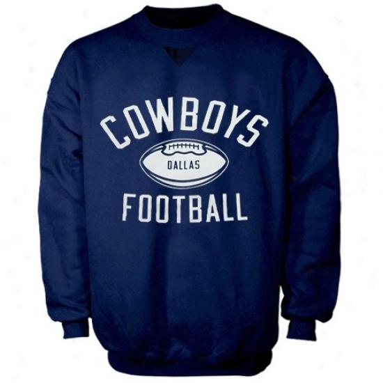 Dallas Cowboys Sweatshirt : Reebok Dallas Cowboys Navy Blue Wlrk Out Sweatshirt
