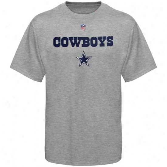 Dallas Cowboys T-shirt : Dallas Cowboys Ash Authentic T-shirt