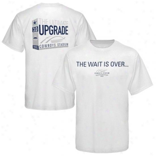 Dallss Cowboys T-shirt : Dallas Cowboys White 2009 Cowboy Stadium Inaugural Season Ultimate Upgrade T-shirt