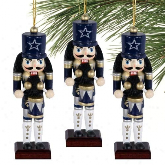 Dallas Cowboys Three-pack Nutcracker Ornaments