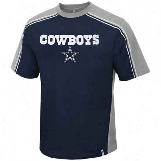 Dallas Cowboys Tshirts : Reebok Dallas Cowboys Navy Blue Upgrade Tshirts