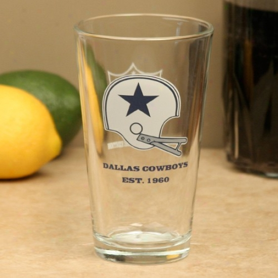 Dallas Cowboys Vintage Logo 16oz. Pint Glass