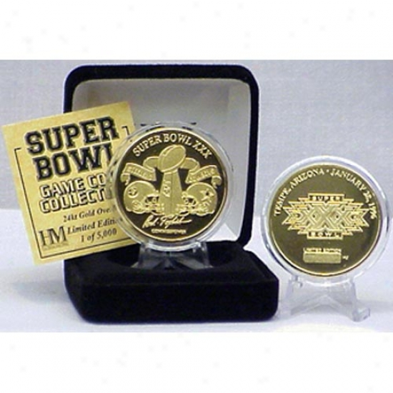 Dallas Cowboys Vs. Pittsburgh Steelers 24kt Gold Super Bowl Xxx Flip Coin