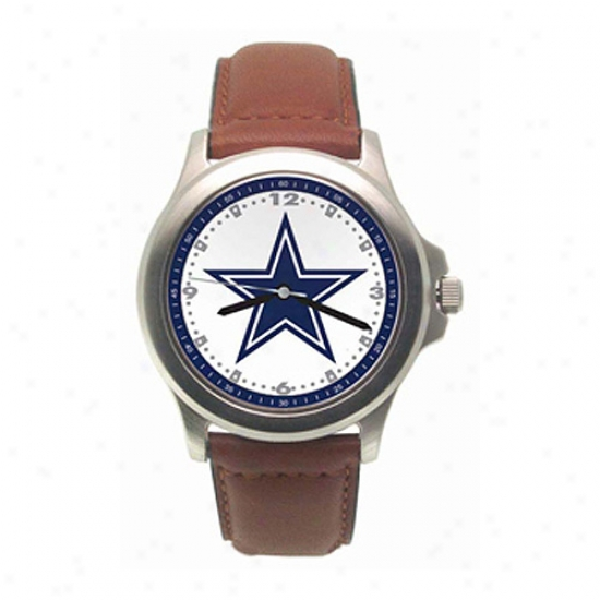 Dallas Cowboys Watches : Dallas Cowboys Rookie Watches W/leather Band
