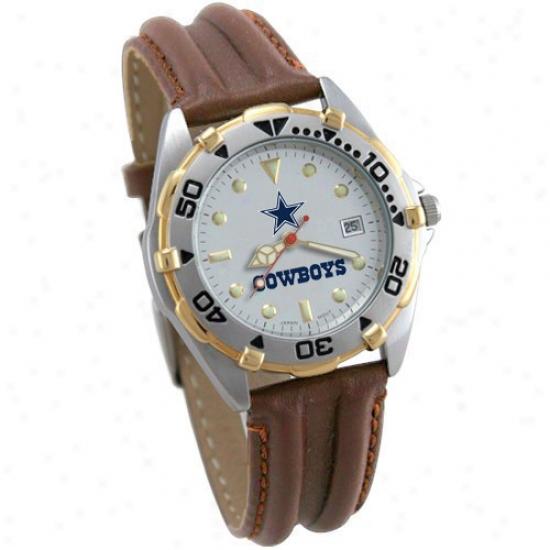 Dallas Cowboys Wrist Watch : Dallas Cowboys Ladies All Star Wrist Watch With Leather Band