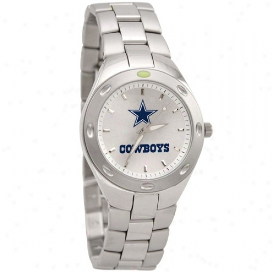Dallas Cowboys Wrist Watch : Dallas Cowboys Men's Unsullied Steel Touchdown Wrist Watch