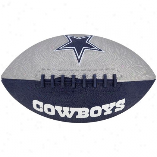 Dallas Cowboys Youth Navy Blue-silver Hail Mary Rubber Foktball