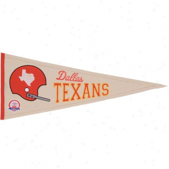 Dallas Texans Unaffected 13'' X 32'' Afll Throwback Wool Traditions Pennant