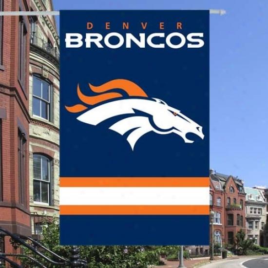 Denver Bronco Banner : Denver Bronco Applique Nfl Banner