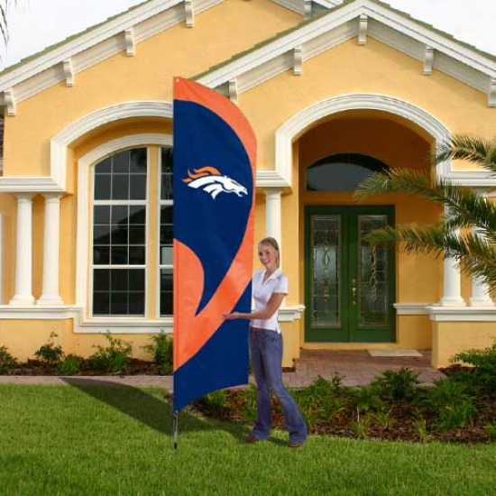 Denver Bronco Flags : Denver Bronco Tall Applique Team Flags