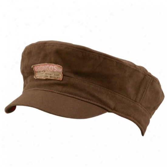 Devner Bronco Hat : Reebok Denver Btonco Ladies Brown Soldiery Cardinal's office