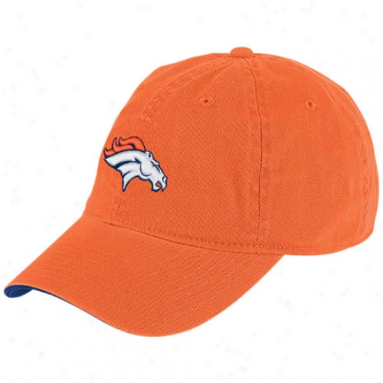 Denver Bronco Hat : Reebok Denver Bronco Orange Basic Logo Slouch Hat