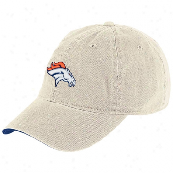 Denver Bronco Hats : Reebok Denver Bronco Putty Basic Slouch Hats