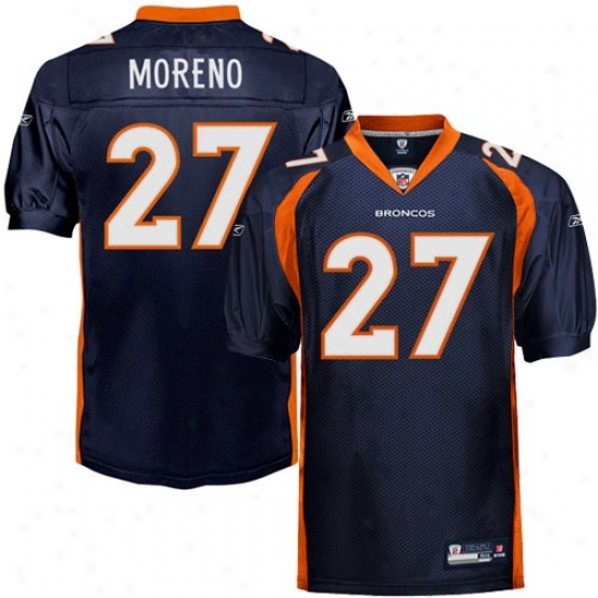 Denver Bronco Jerseys : Reebok Knowshon Moreno Denver Bronco Authentic Jerseys - Navy Blue