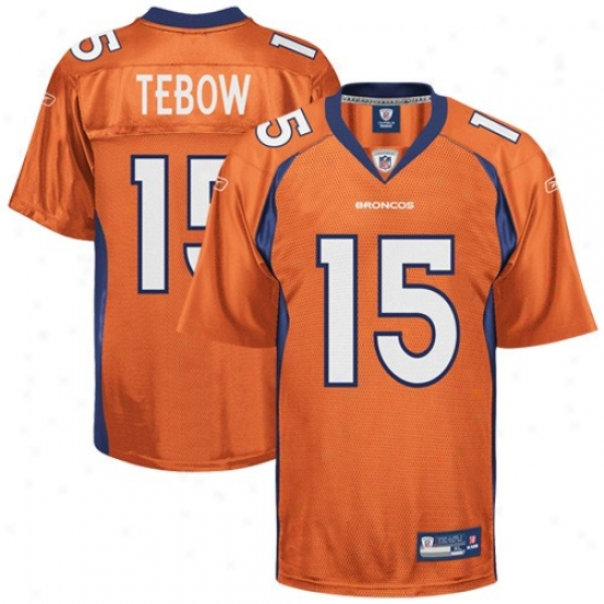 Denver Bronco Jerseys : Reebok Tim Tebow Denver Bronco Youth Replica Jerseys - Orange Alternate