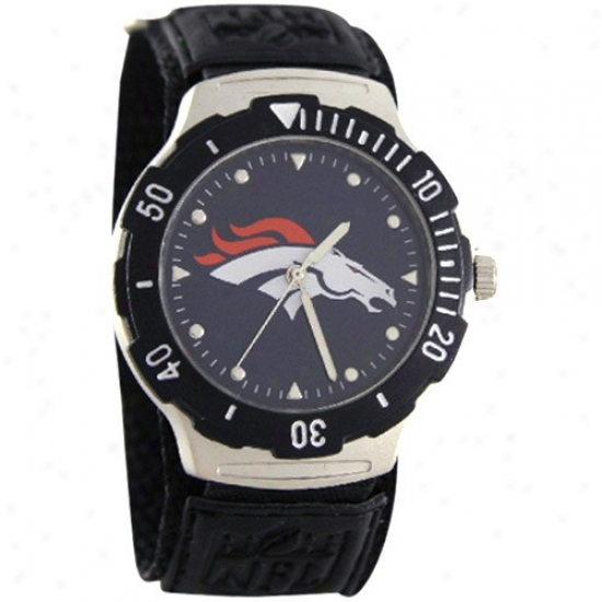 Denver Bronco Watch : Denver Bronco Black Agent V Watch