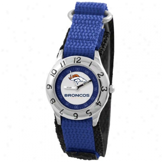 Denver Bronco Watches : Denver Bronco Youth Navy Blue Time Teacher Watches