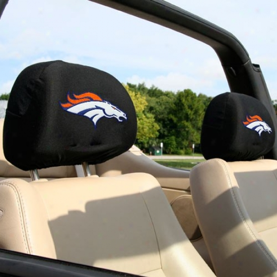 Denver Broncos 2-pack Headrest Covers