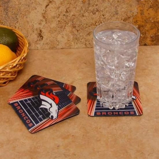 Denver Broncos 4-pack Neoprene Coasters