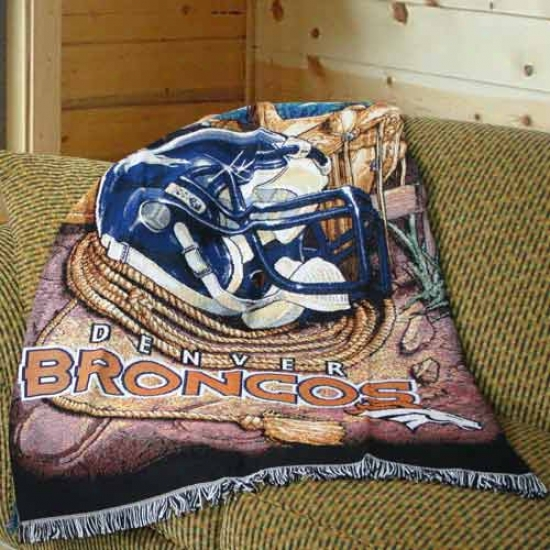 """denver Broncos 48""""x60"""" Acrylic Triple Woven Home Opportunity Advantage Blanket Throw"""