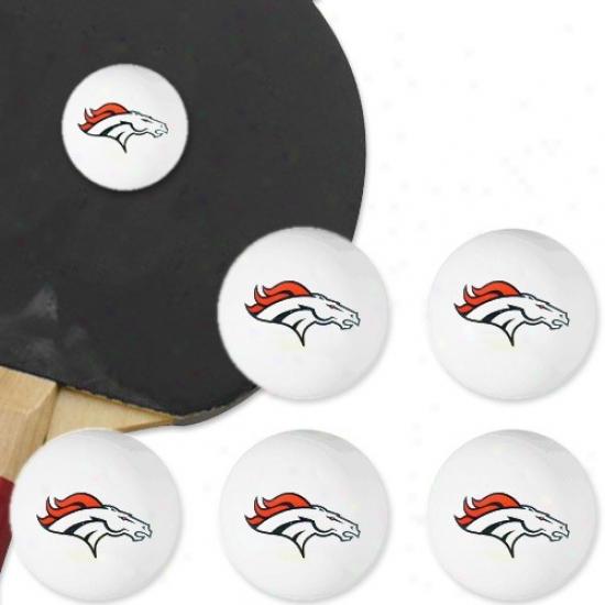 Denver Broncos 6-pack Team Logo Ping Pong Balls