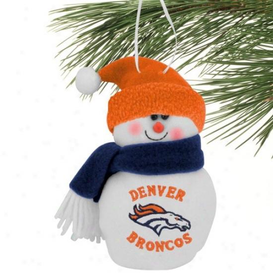 Denver Broncos 6'' Plush Snowman Ornament