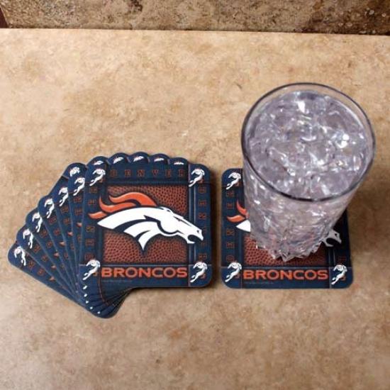 Denver Broncos 8-pack Absorbent Paperkraft Coasteds