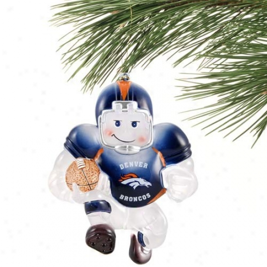Denver Broncos Acrylic Holiday Ornament