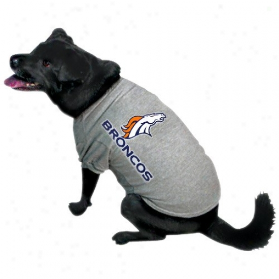 Denver Broncos Ash Logo Pet T-shirt