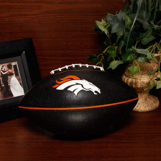 Denver Broncos Black Pt-6 Full Size Composite Football