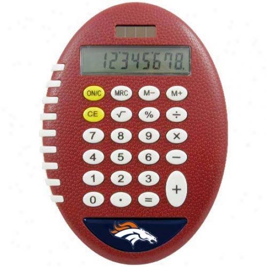 Denver Broncos Brown Football Pro-grip Calculator