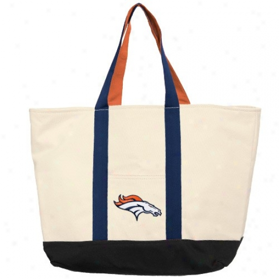 Denver Broncos Canvas Tote Bag