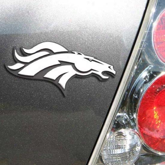 Debver Broncos Chrome Auto Emblem